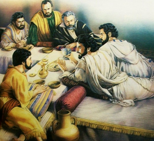 The Lord's evening meal with his Apostles