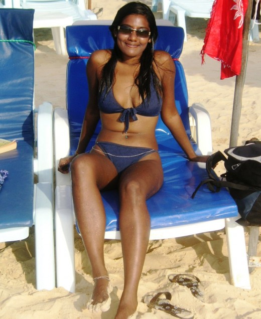 sexy Indian Bikini Girls on beach photos