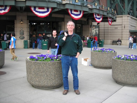 Standing outside Safeco Field, home of the Seattle Mariners!