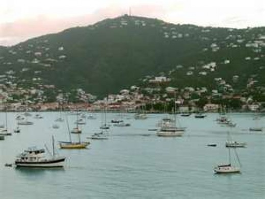 This photograph is of Charlotte Amalie Harbor on St. Thomas.