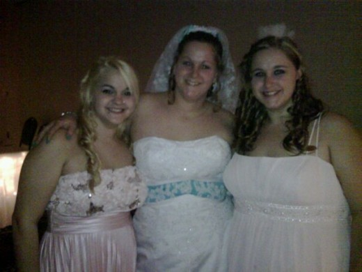 Sisters - Bride, Maid of Honor and Bridesmaid