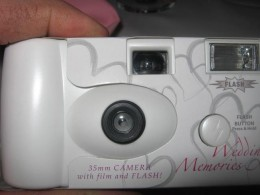 See?  A disposable camera!!
