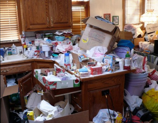 Not my place but belongs to a Compulsive Hoarder