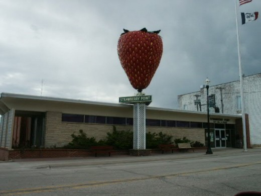 The Largest strawberry made of fiberglass