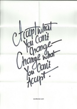 accept and change from wordboner Source: flickr.com