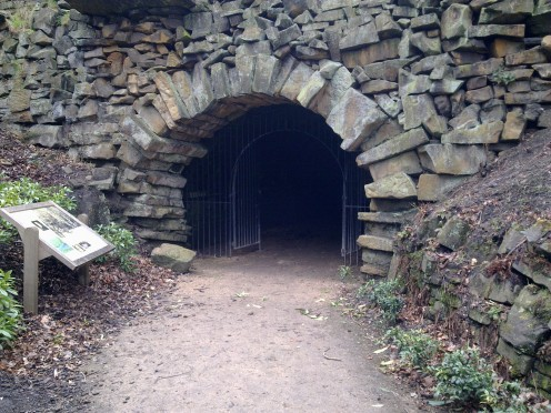Old stone tunnel to Cunnery wood