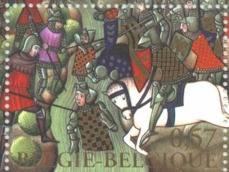 Depiction of the batlle on a stamp