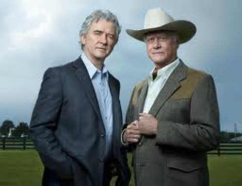 Bobby Ewing with his older brother J. R Ewing