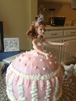 How to make a Princess shaped cake