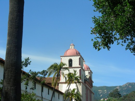 The mission in Santa Barbara is an amazing site and still in pristine condition after a few hundred years.