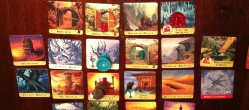 The island cards are laid out!  Can you collect the treasures?