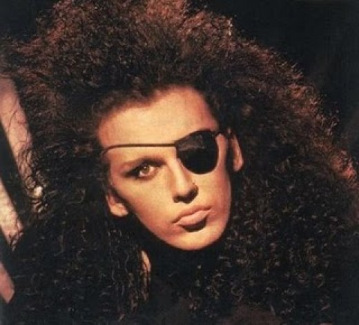 Pete Burns as he appeared in the early 80's.