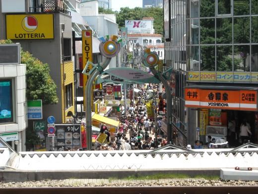 View of Takeshita-dori, the main tourist attraction of Harajuku.