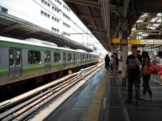 View of Shinjuku platform.