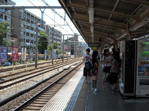 View from Mejiro platform.
