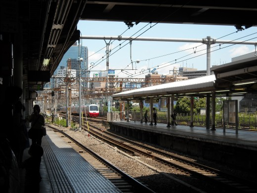 View from Tamachi platform.