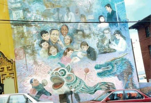 Mural that met us as we entered Chinatown