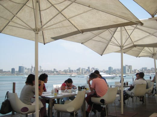 The view at Cais do Quatro restaurant