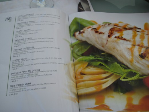 The menu of Cais do Quatro