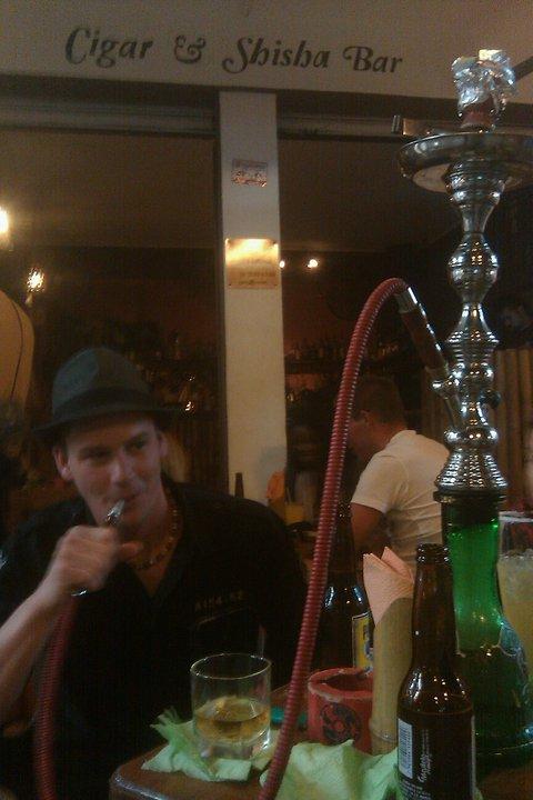 Me at Pepenero's Shisha and Cigar Bar