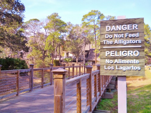 Tourists in Southeastern USA may see danger signs like this one and should heed the warning!