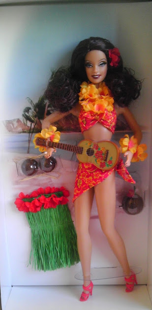 Hula Honey Barbie and her accessories