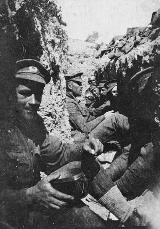 Soldiers taking a break during the day