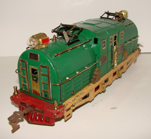 This pre-World War II American Flyer locomotive is a pretty convincing toy train that was popular in the 1920s and early 1930s. She still runs like the day she left the factory, in 1928!