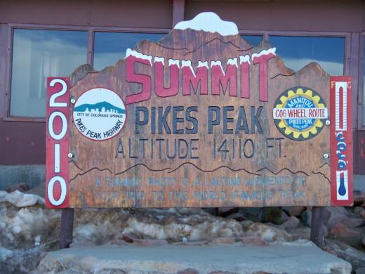 Summit of Pikes Peak