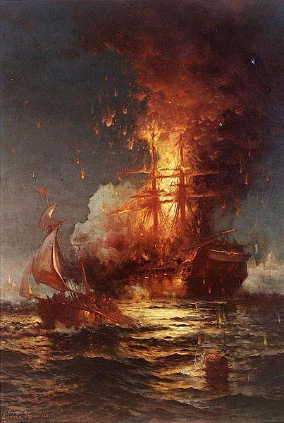Burning of the U.S.S. Philadelphia
