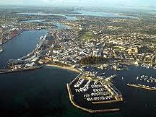 Map of the port of Fremantle and town, the first port that we stopped when we came to Australia.