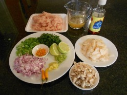 Prepare all the Thai Chicken Cup ingredients before you start cooking the chicken!