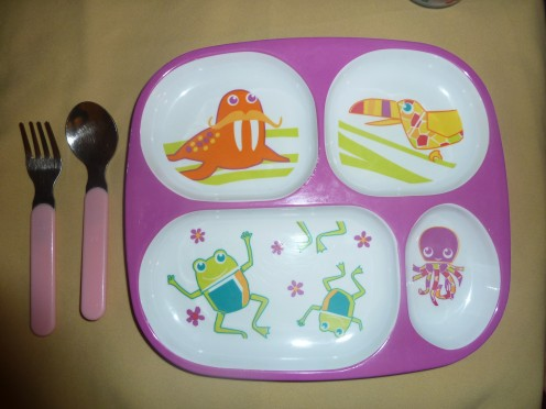A simple plate with portion spaces makes mealtime fun!
