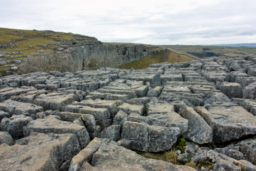Karstic limestone or 'limestone pavement' above Malham Cove