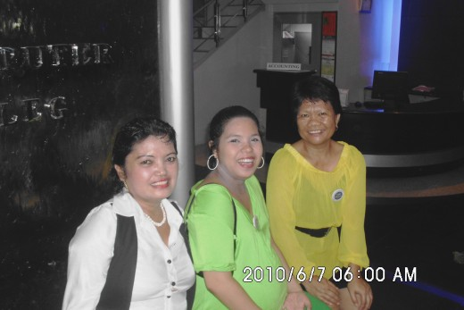 Ma'am Veron, my preggy daughter and I; it was on SPCC Acquaintance Party in 2011. I was just a visitor because I left my job after my marriage to Greg.