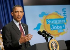 President Obama announces Summer Jobs+, a call to action to American businesses, nonprofits and government entities to put young people to work in summer 2012.