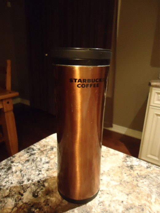 My well-used, trusty, double-walled travel mug.