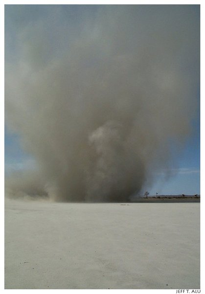 A rather large dust devil, they sometimes can be large and sustained for a period of time.