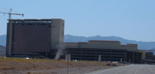 A dust devil beginning in front of the Red Rock Casino, this picture was taken when the casino was still under construction.
