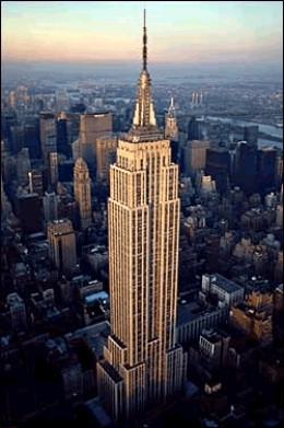 Empire State Building - 102 stories tall