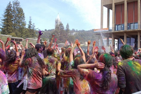 Celebrating Holi Festival With Colors