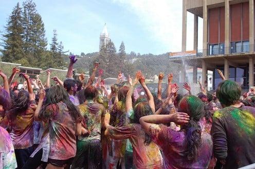 Celebrating Holi Festival With Colors