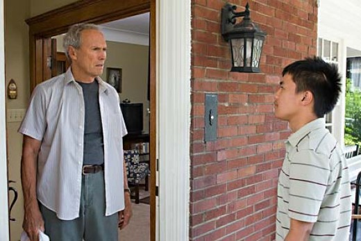 "Clint Eastwood with Bee Vang in a scene from ""Gran Torino"""