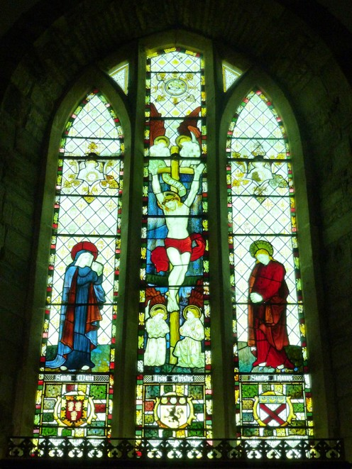 Stained glass window in St Bartholomew's Church