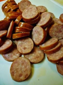Sliced Polish sausage