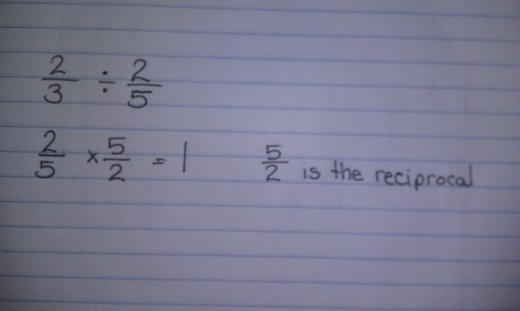 We need to find the reciprocal of 5/2