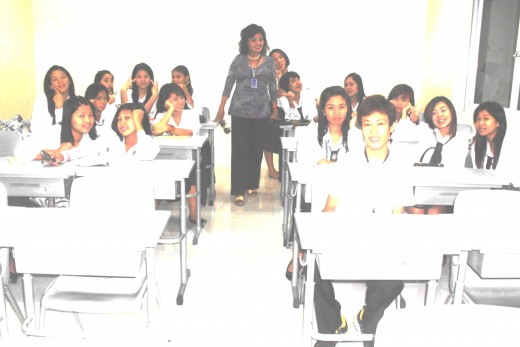 This photo was taken in 2011, SPCC, San Fernando, First year College, Office Administration class,