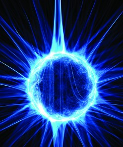Electro-Static Plasma floating freely as it is flouresing in ionized gas.