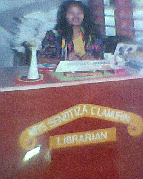 """My makeshift library was the old """"barangay hall"""" or barrio hall"""