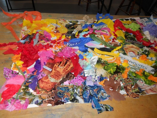 Collage created by art therapy students at BCSAT 2012 facilitated by Liza Miles